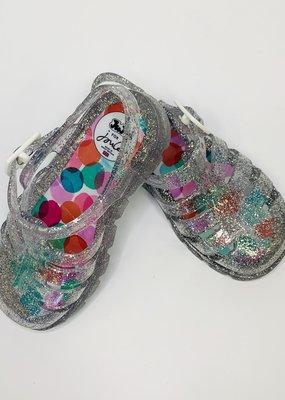 Little Joule Silver Jelly Shoe