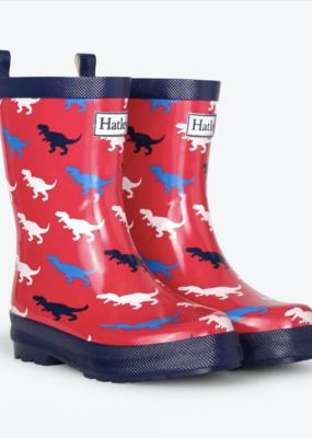 Hatley T-Rex Silhouettes Shiny Rain Boot
