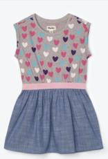 Hatley Multicolour Hearts Elastic Waist Dress