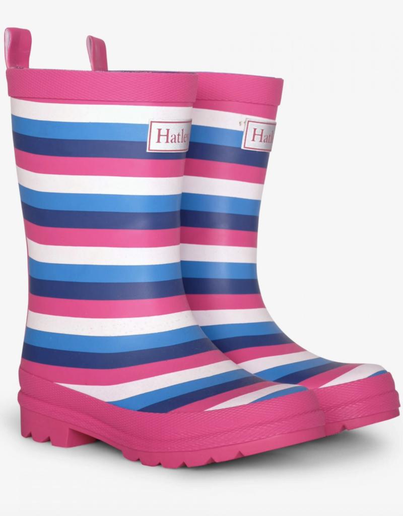 Hatley Summer Stripe Matte Rainboots