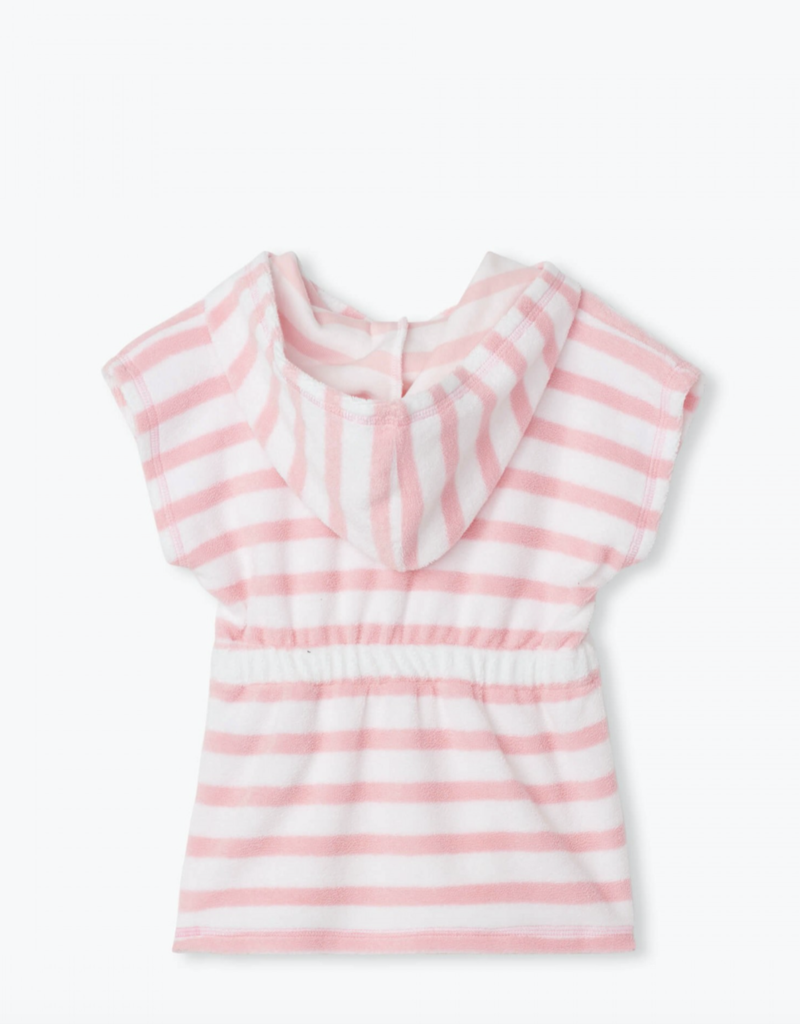 Hatley Candy Pink Stripe Terry Cover Up