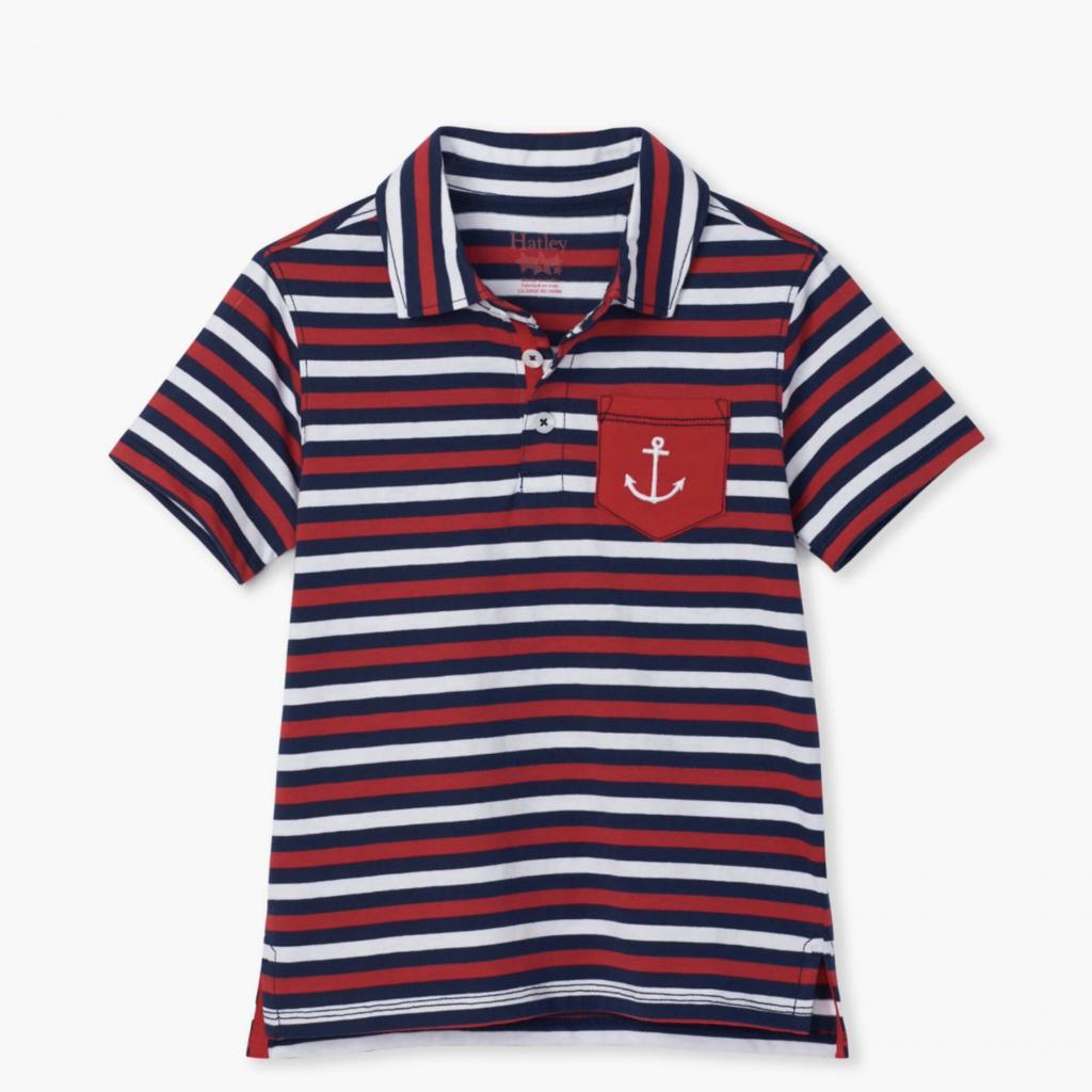 Hatley Nautical Stripe Polo Tee