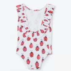 Hatley Love Bugs Ruffle Sleeve Swimsuit