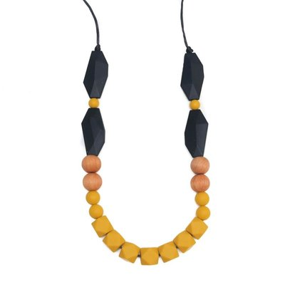 Getting Sew Crafty Elora Mustard Teething Necklace