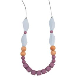 Getting Sew Crafty Elora Mauve Teething Necklace