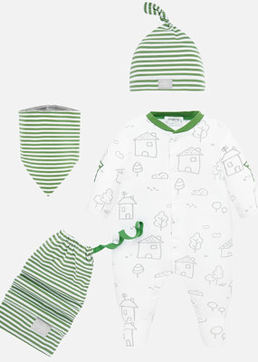Mayoral USA Kiwi Bib Hat Pajama Set