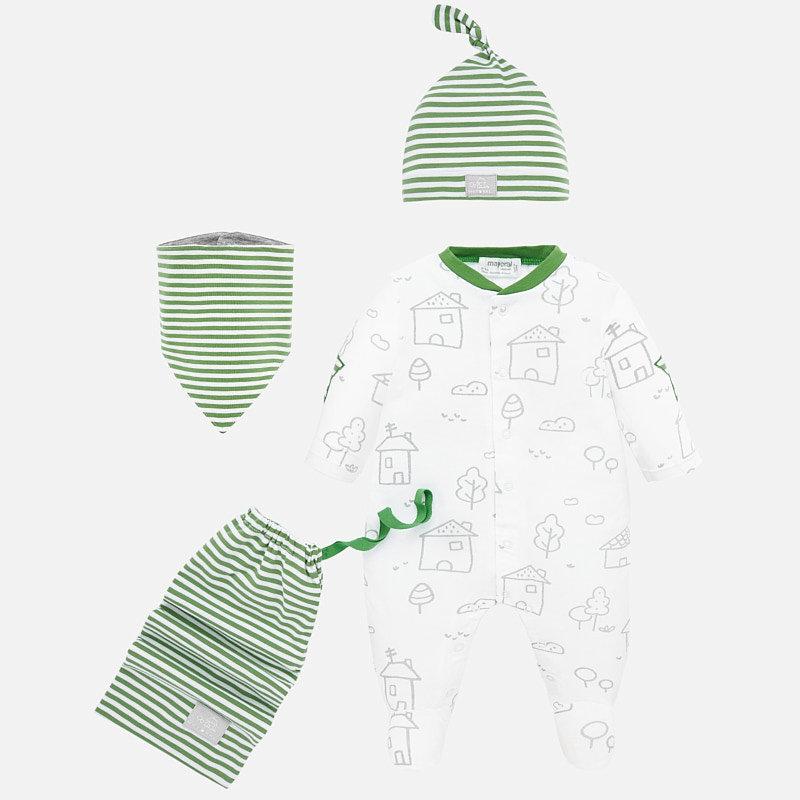 Mayoral USA Kiwi Bib Hat Pajama Set