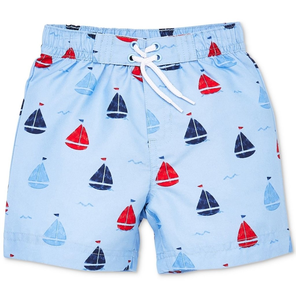 Little Me Sailboat Swim Trunks 18m