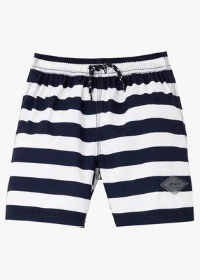 Little Joule Navy Stripe Swim Shorts