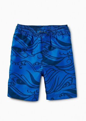 Tea Collection Pattern Swim Trunks