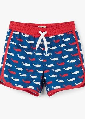 Hatley Whale Pod Swim Trunks