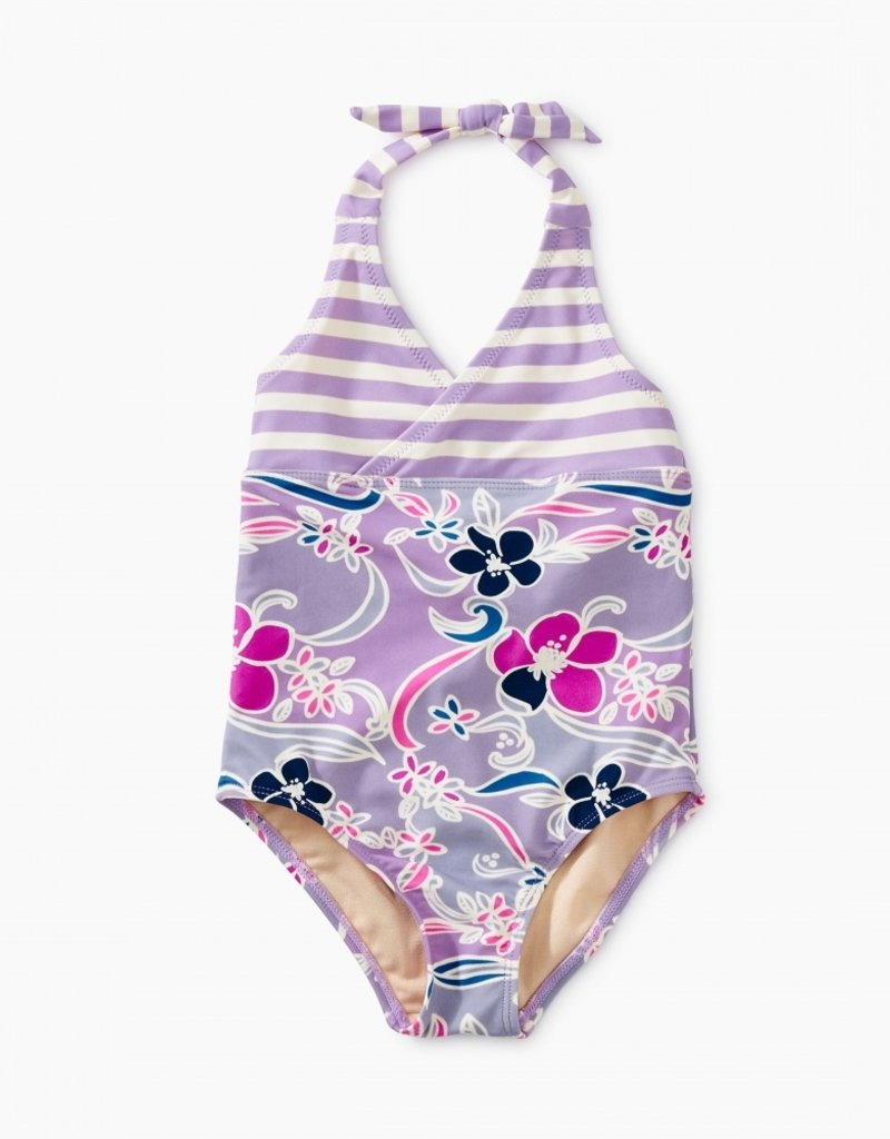 Tea Collection Patterned Halter One-Piece