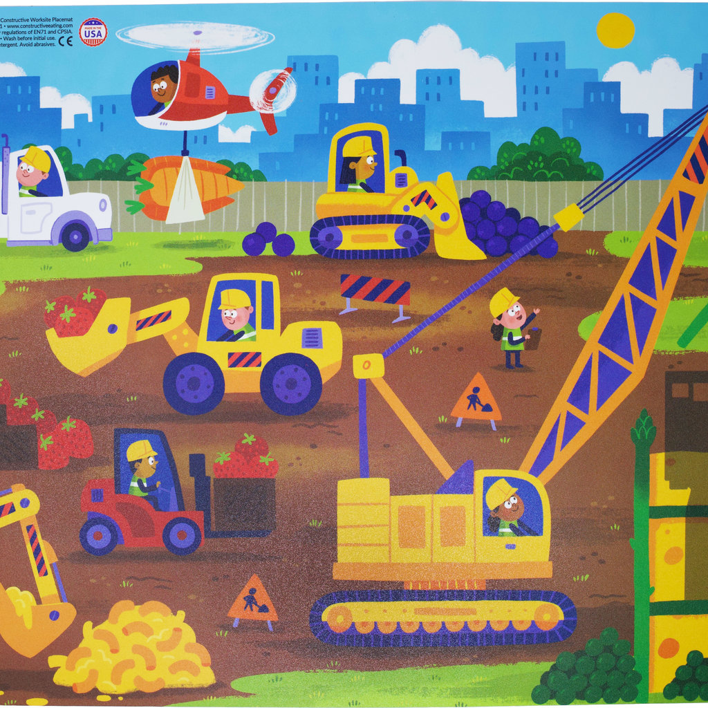 CONSTRUCTIVE EATING Construction Placemat