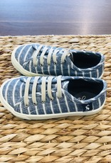 Joules Chambray Stripe Canvas Trainer