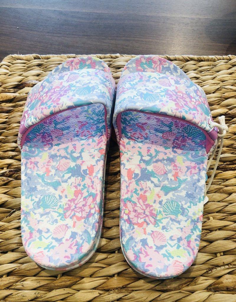 Little Joule Floral Poolside Slides