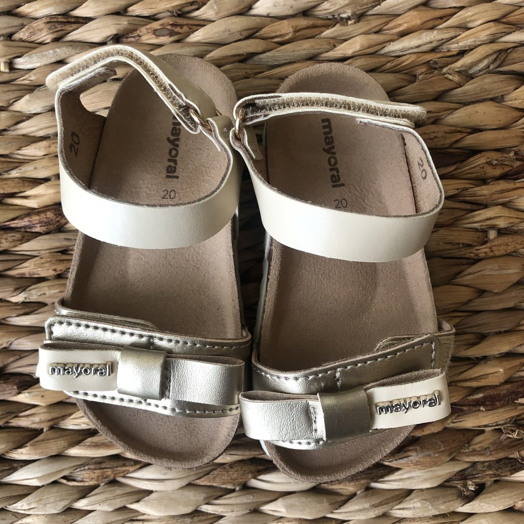 Mayoral USA Gold Bow Sandals