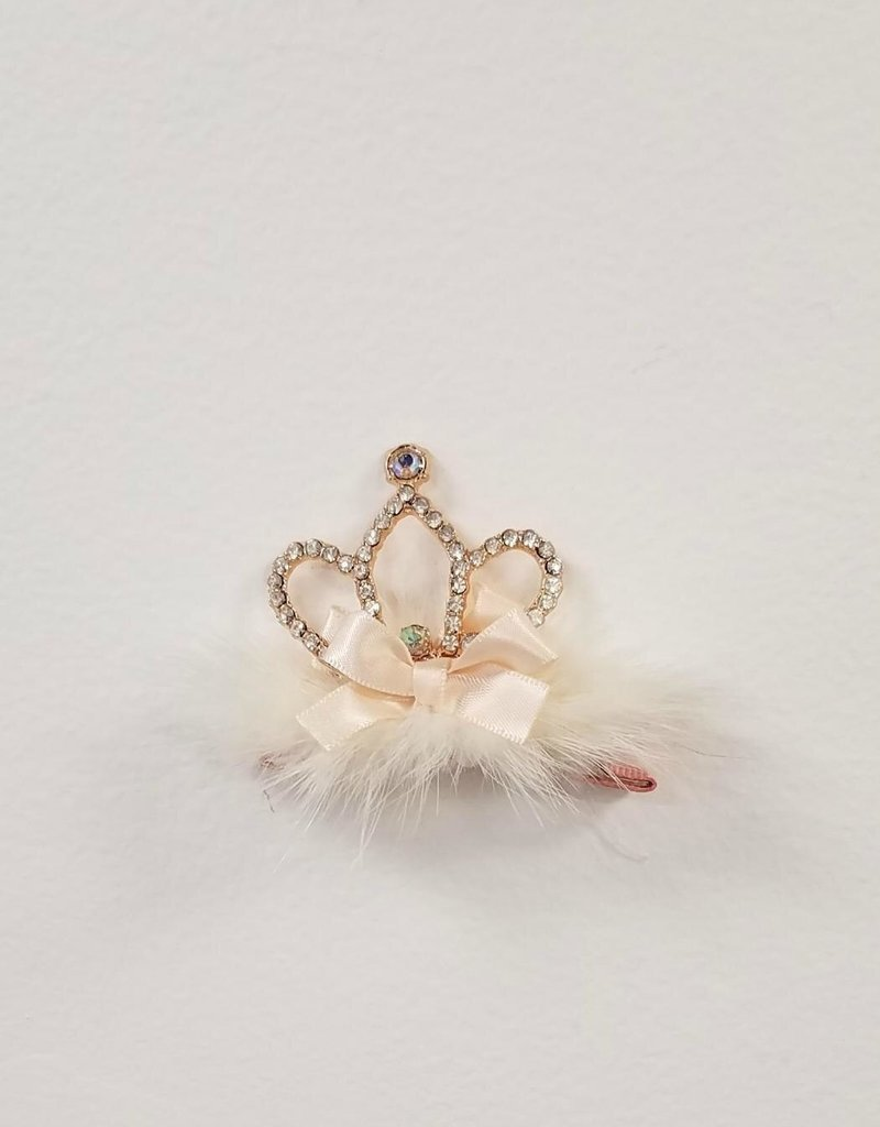 Mae Li Rose Puffy Tiara Clip