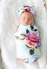 Posh Peanut Infant Swaddle and Headwrap Set