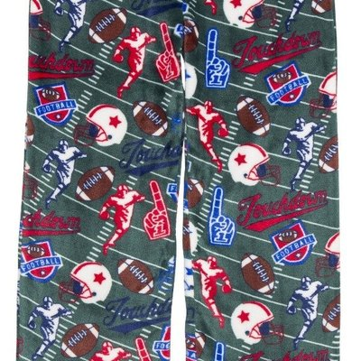 Candy Pink Green Football Sleep Pants