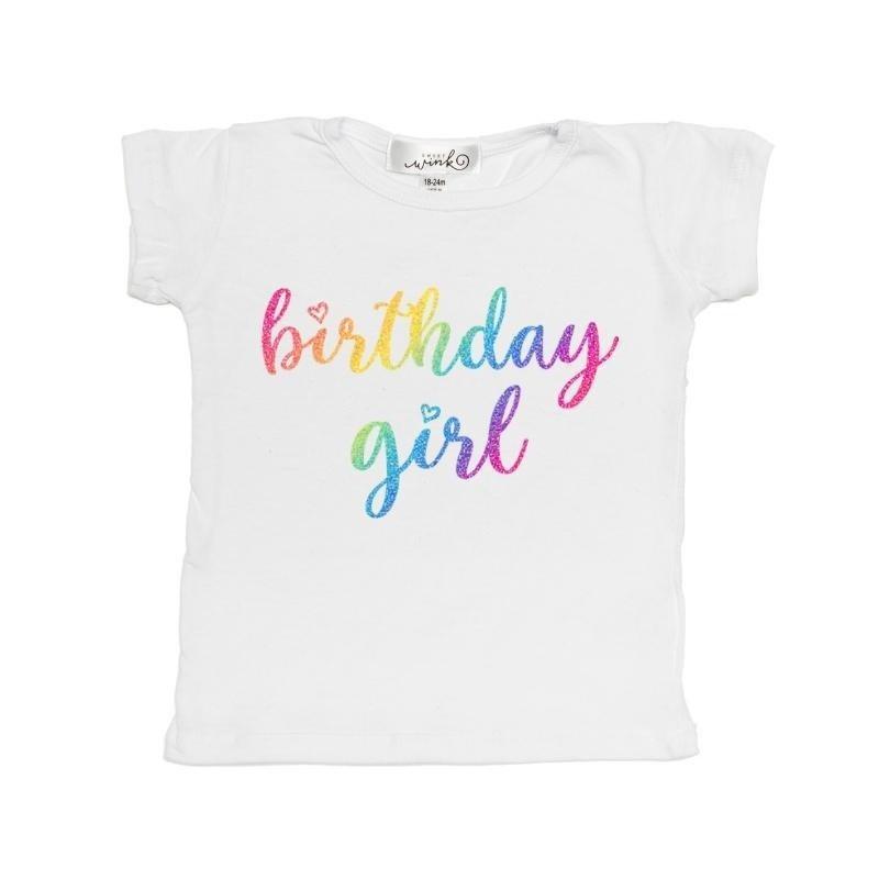 Sweet Wink Rainbow Birthday Girl S/S Tee