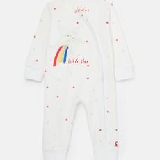 Organic White Star Sleepsuit