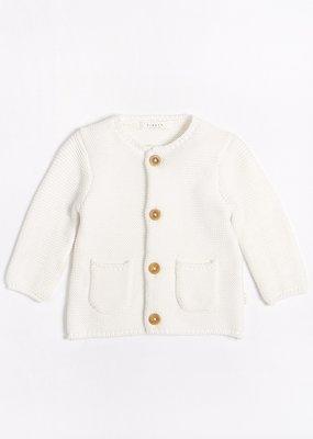 Petit lem Off White Knit Cardigan