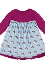 Rainbow L/S Swing Dress