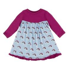 Kickee Pants Rainbow L/S Swing Dress