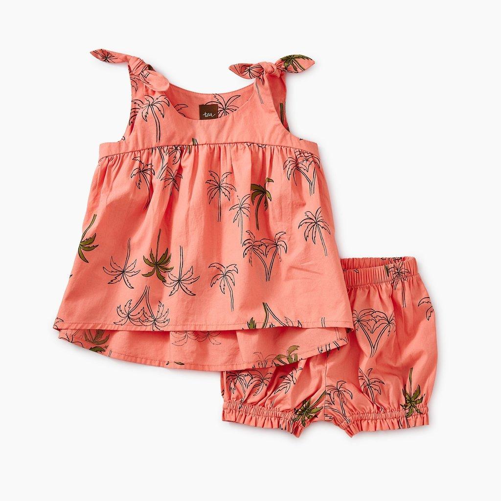 Tea Collection Hi-Lo Tie Shoulder Baby Set