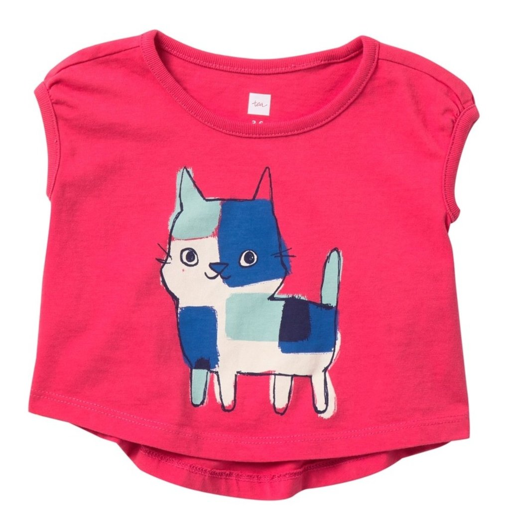Tea Collection Calico Kitten Graphic Baby Tee