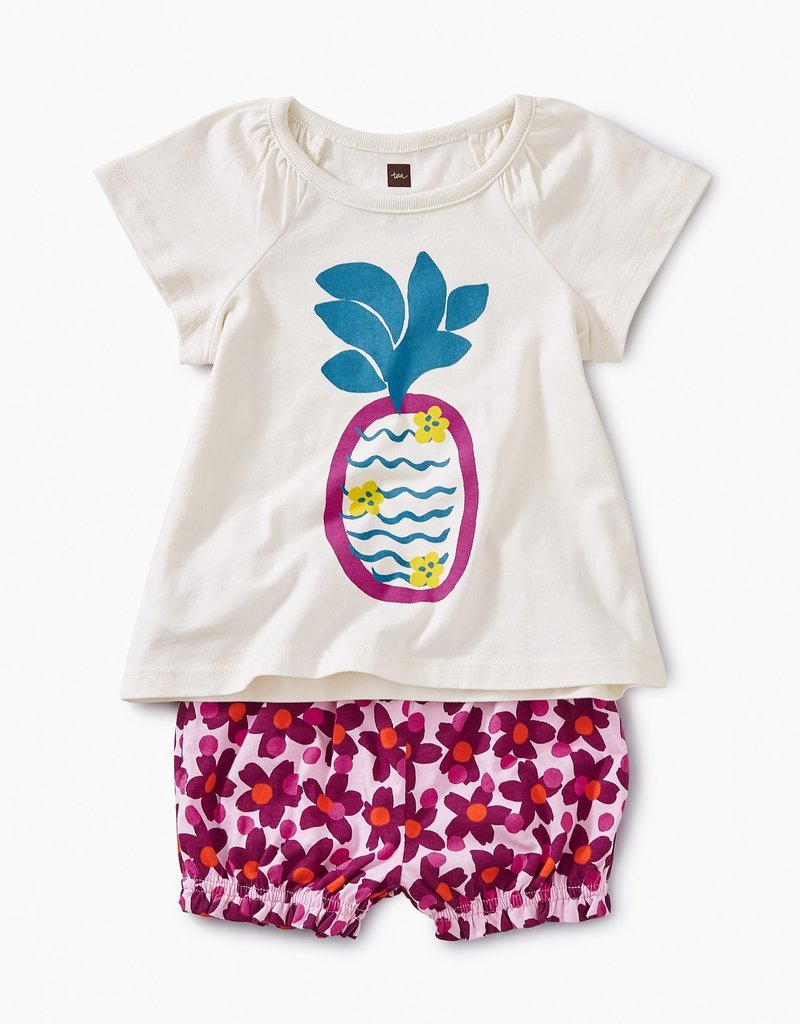 Tea Collection Cheeky Pineapple Baby Outfit