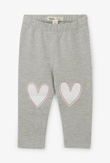 Hatley Athletic Grey Hearts Leggings
