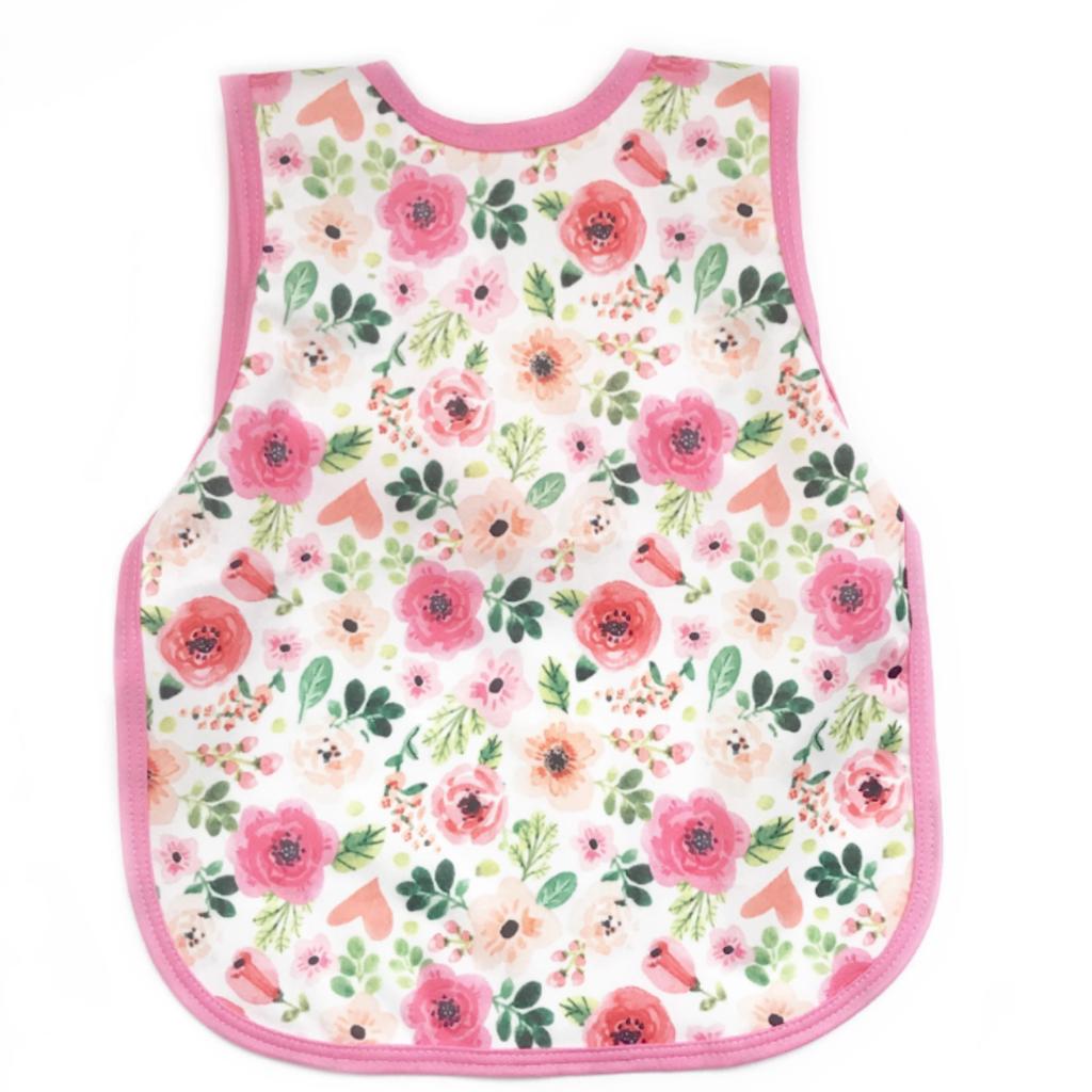 Bapron Baby Bubble Gum Floral Toddler Bapron