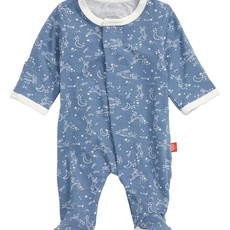Magnificent Baby Blue Sky Bunny Magnetic Footie