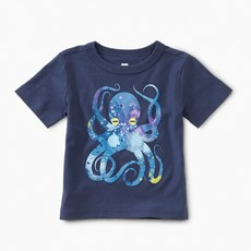 Tea Collection Pop Octopus Baby Graphic Tee