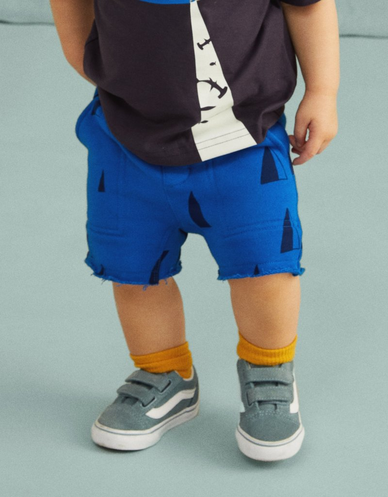 Tea Collection Printed Knit Gym Baby Shorts