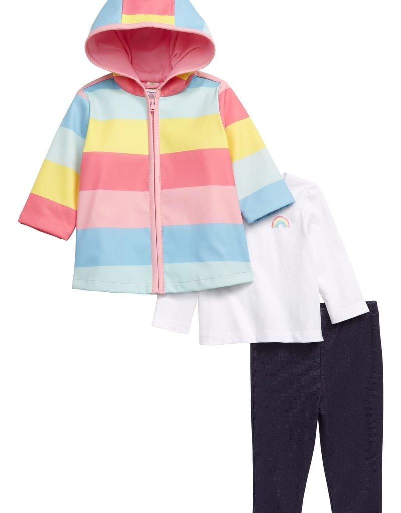 Little Me Rainbow Leggings Jacket Set