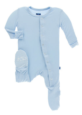 Kickee Pants Basic Pond Footie  Newborn