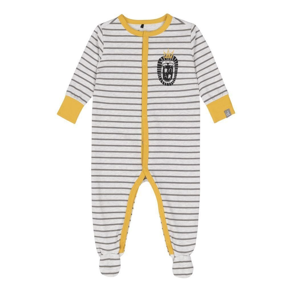Deux Par Deux Organic Royal Lion Striped Footie