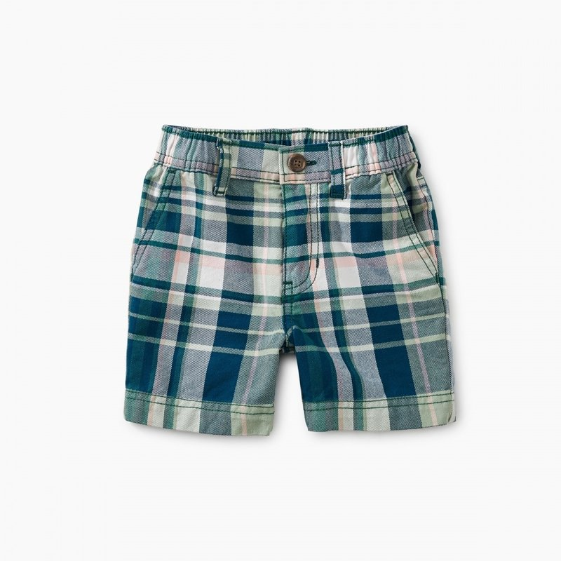 Tea Collection Plaid Baby Travel Shorts