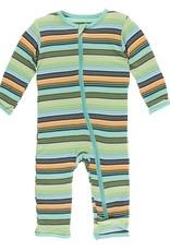 Kickee Pants Cancun Glass Stripe Coverall