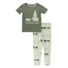 Kickee Pants Short Sleeve Piece Print Pajama Set