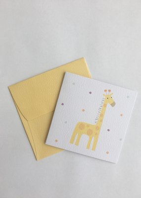 Yellow Giraffe Enclosure Card