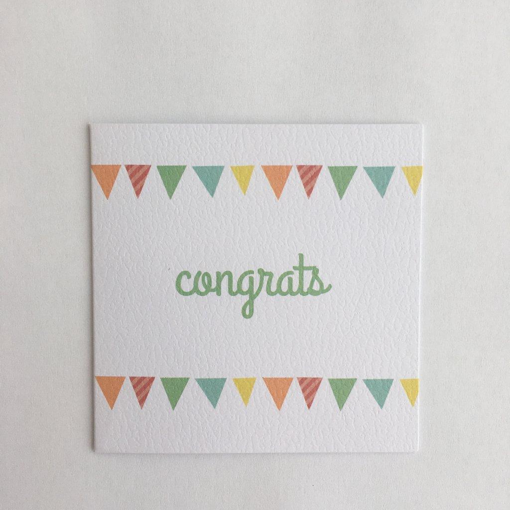 Congrats Pennant Enclosure Card
