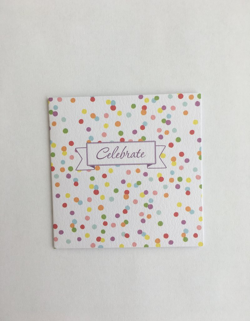Celebrate Confetti Enclosure Card