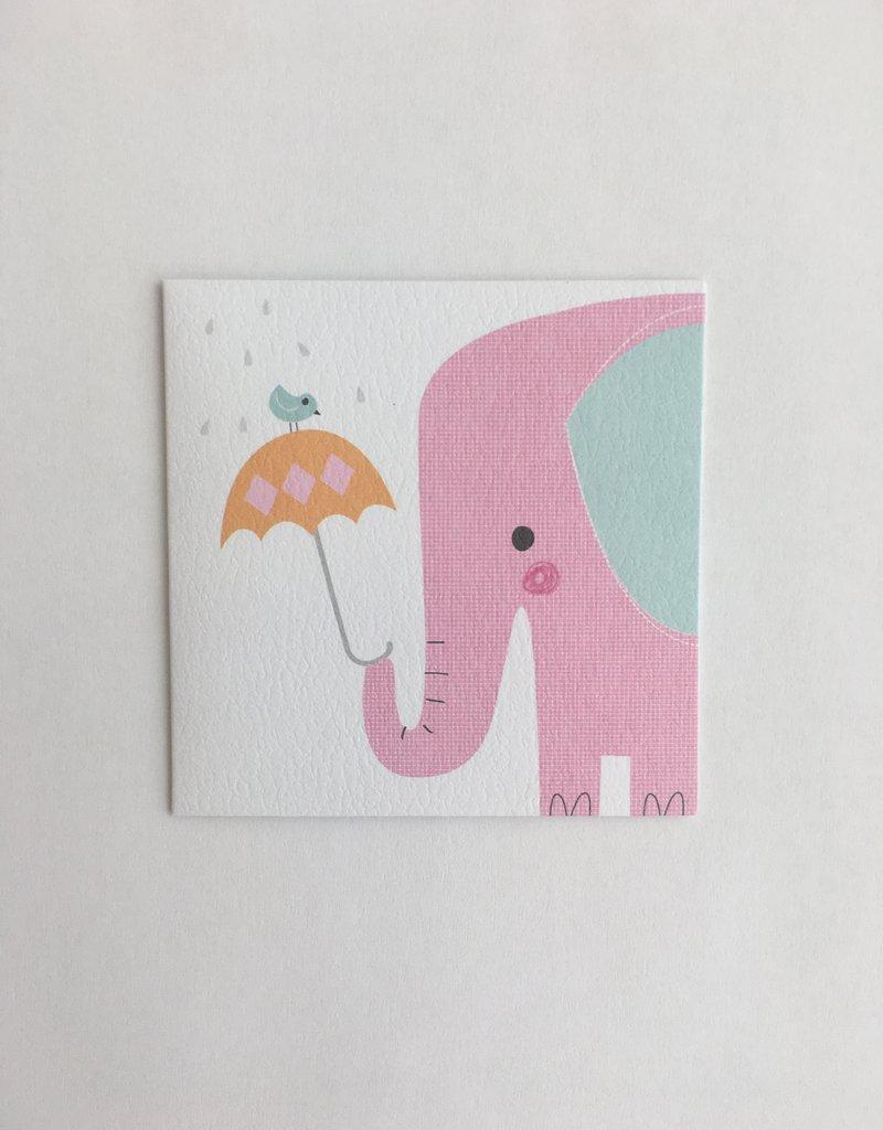 Pink Elephant Enclosure Card