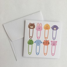 Baby Pins Enclosure Card