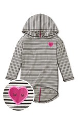 Tea Collection Heart Hi-Lo Pullover Hoodie