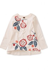 Tea Collection Pomegranate Graphic Twirl Top