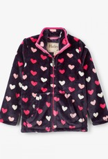 Hatley Lovey Hearts Fuzzy Fleece Zip Up